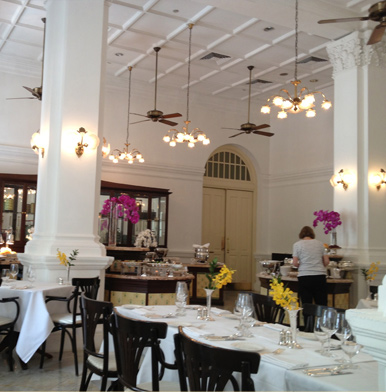 Tiffin Room at Singapore's Raffles Hotel