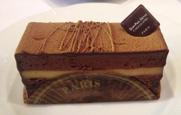 chocolate cake in Paris