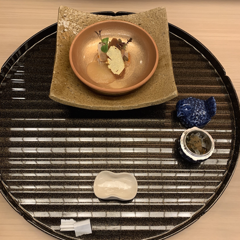 Sashimi course in kaiseki