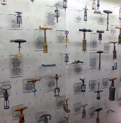 Corkscrew collection at Gerovassiliou winery in Greece