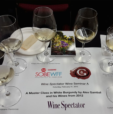 Wine Spectator Wine Seminars at Miami Food & Wine Festival