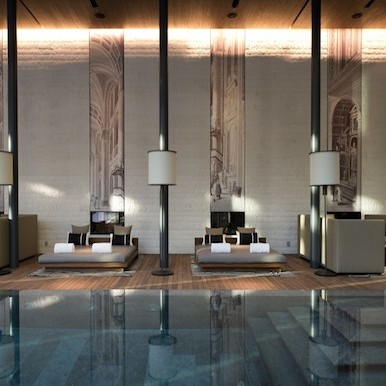 Reaching to the Swiss mountains from the luxurious oriental Chedi Spa in Andermatt