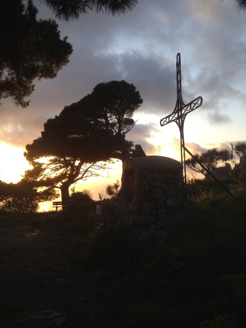 Calvary hike on Capri