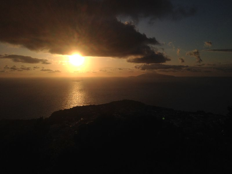 Final sunset on Capri