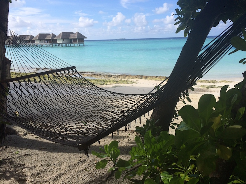 Do nothing on the beach in Maldives
