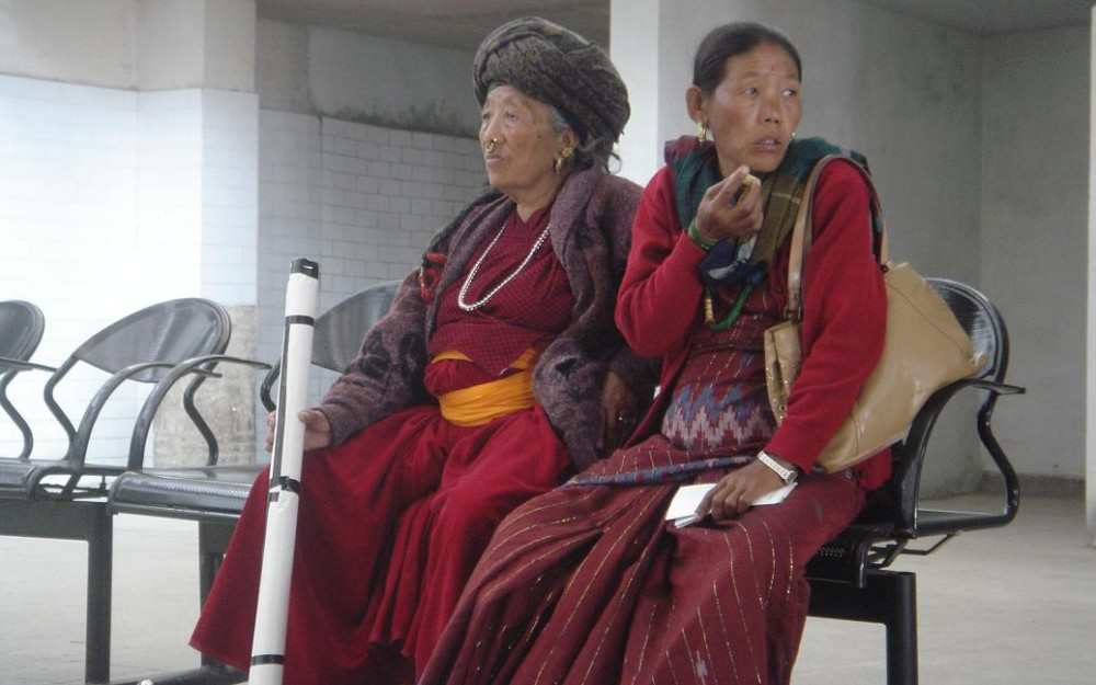 Nepalese women in traditional clothes