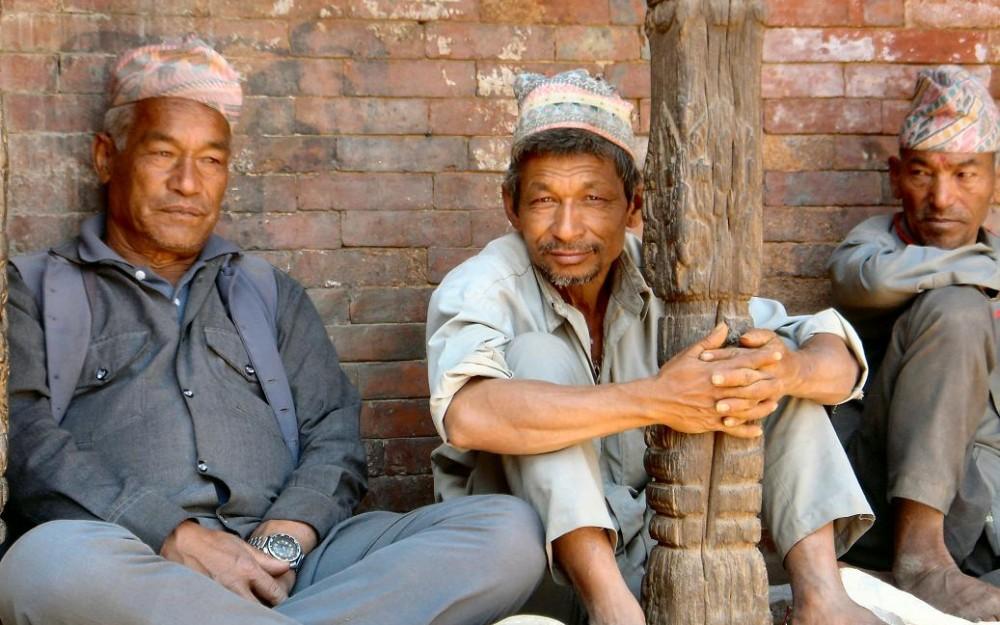 Nepalese men on the street
