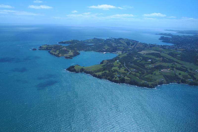 Waiheke island in New Zealand