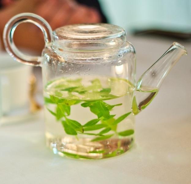 Herbal tisane at Alain Ducasse at Hotel de Paris in Monaco