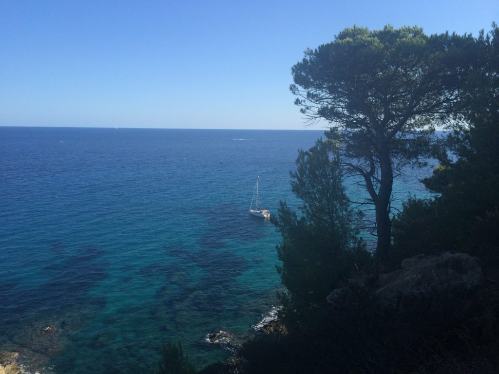 The awareness of surrounding beauty Mediterranean sea