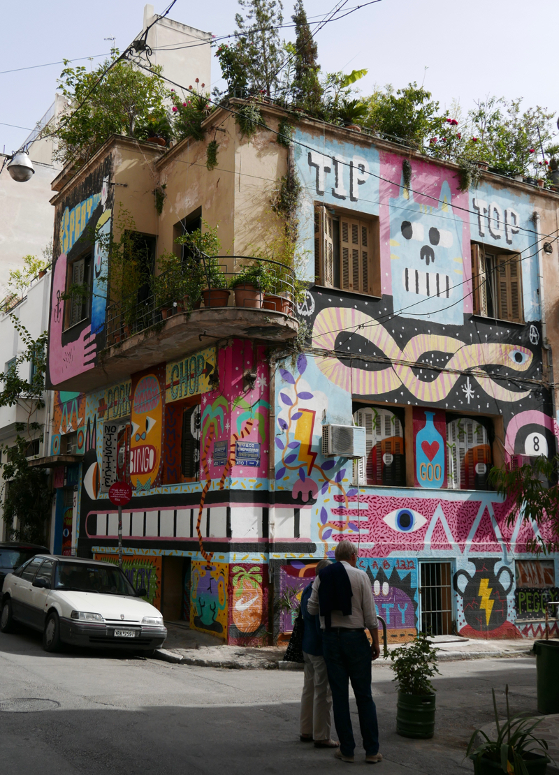 Greek street art in Athens