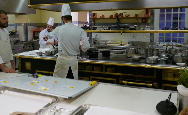 kitchen of Michel Guérard at Les Prés d'Eugénie