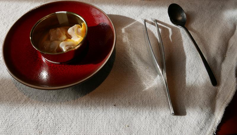 Michelin star tasting menu at the Etxebarri restaurant