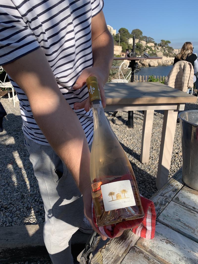 Provencal rose wine