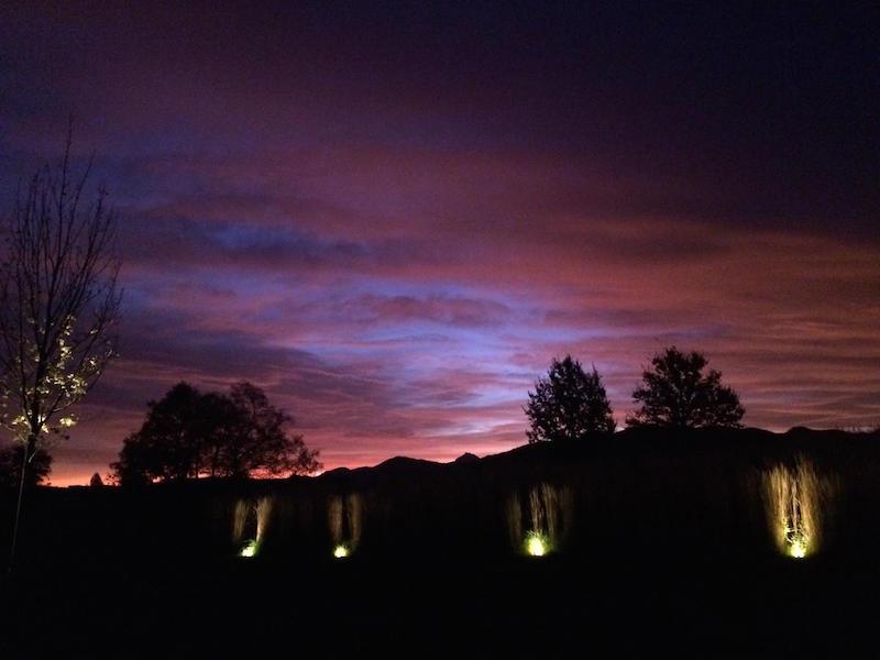 sensory awakening: purple sky