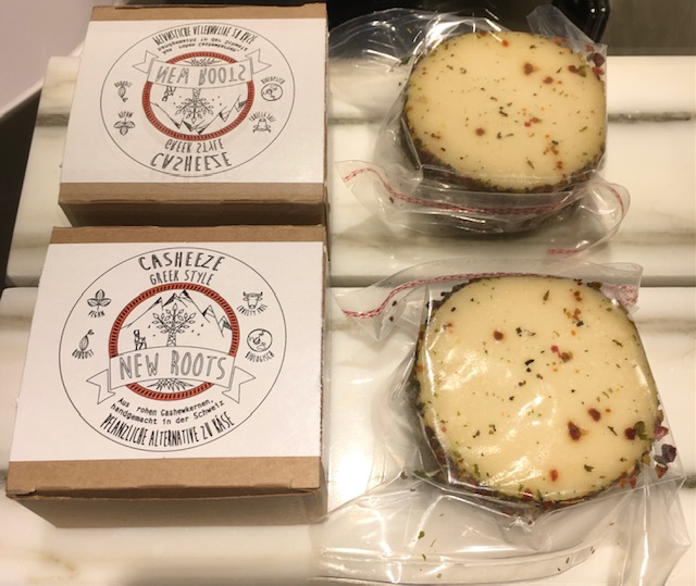 Flavoured vegan cheese altrenatives